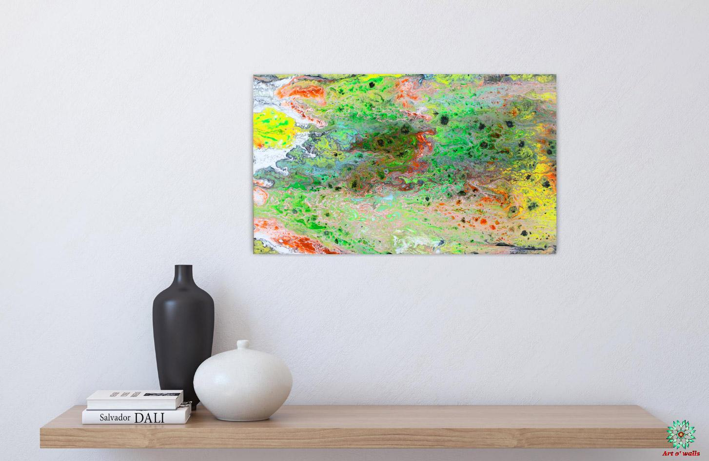 Fluid Art on stretched canvas: Colourful (small)
