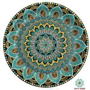 Aqua Green Mandala Style Decorative Plate(hanging) Exclusive Range