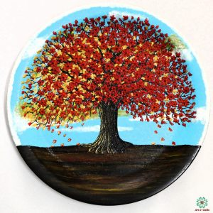 Blossoms Red: Decorative plate(hanging)