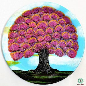Blossoms Purple: Decorative plate(hanging)