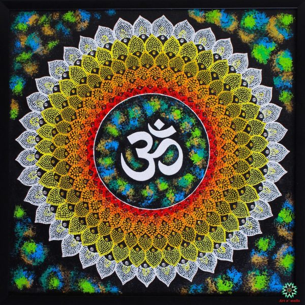 The Om Mandala- Mixed media on canvas