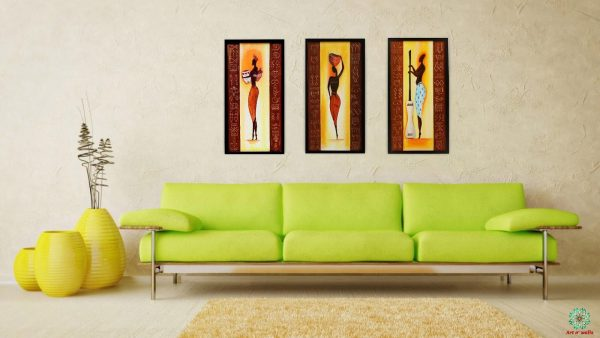 Tribal Art Paintings (set of 3)