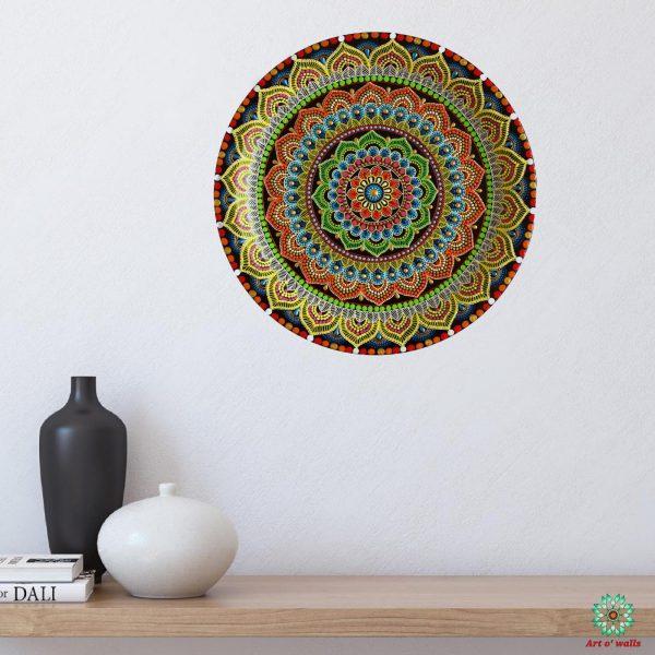 Mandala Decorative plate(hanging): Exclusive