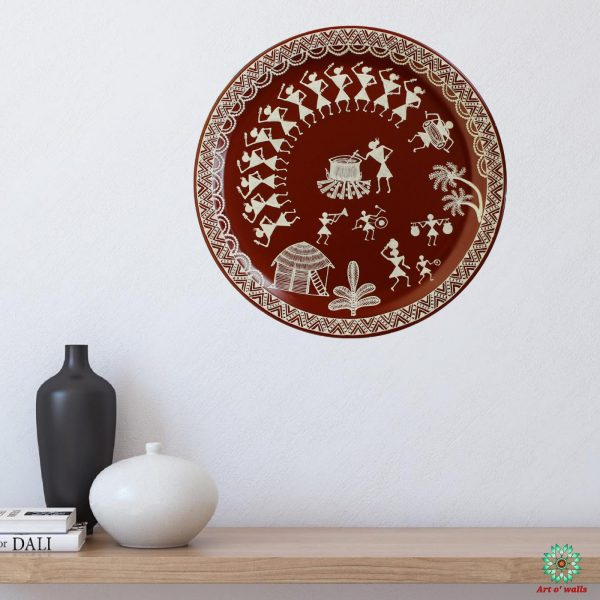 Warli art Decorative plate(hanging)