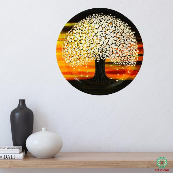 Blossoms White: Decorative plate(hanging)