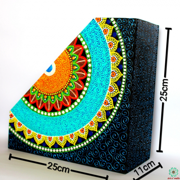 Mandala Style Colourful Magazine holder