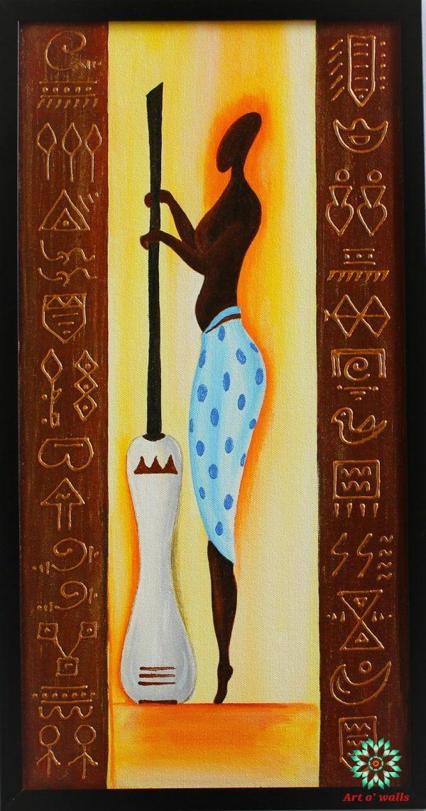 Tribal Art Paintings (set of 3)