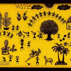 Warli art Canvas painting