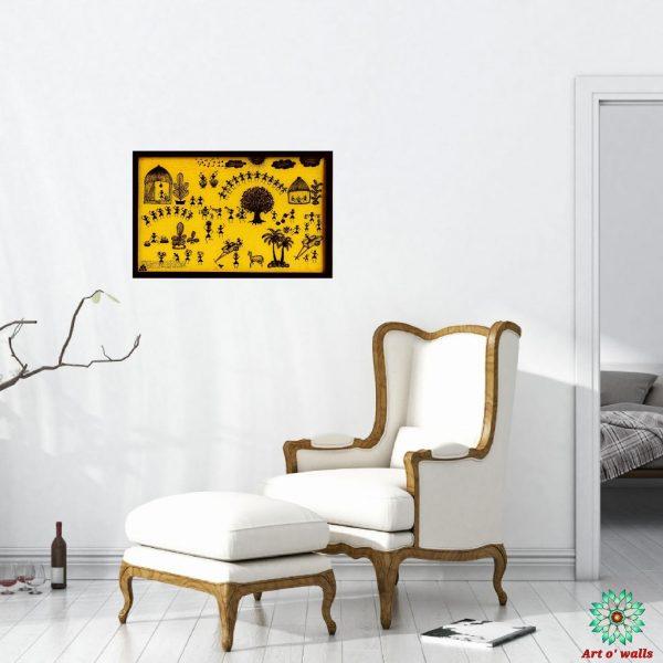Warli art Canvas painting