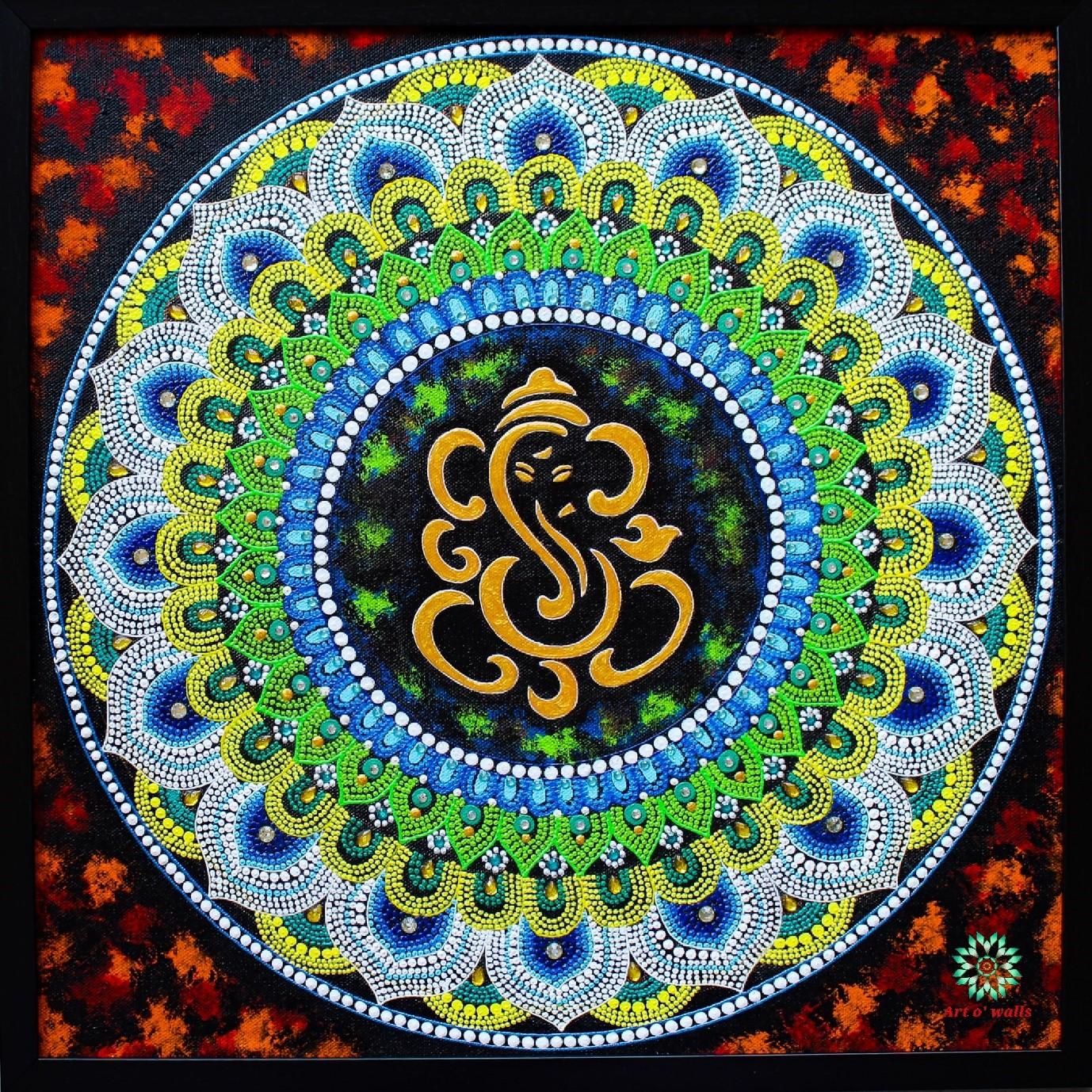 Gnaesha Mandala Painting Artowalls